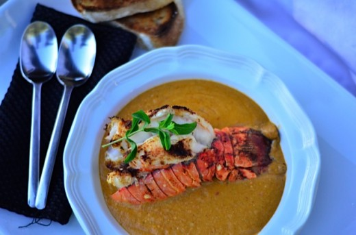 Herb & Curry Lobster Bisque Recip