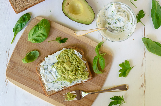 Avocado-and-Goat-Cheese-on-Bread