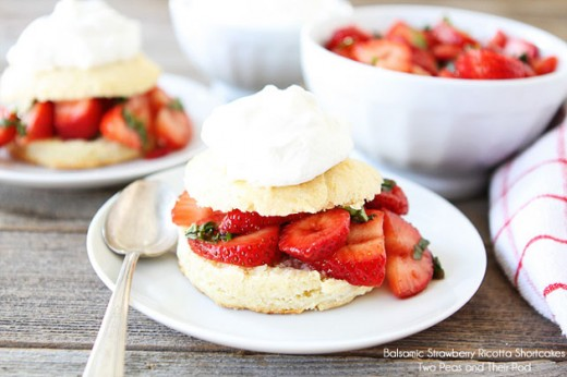 Balsamic Strawberry Ricotta Shortcakes Recipe