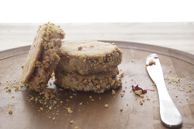 PEANUT BUTTER AND JELLY ICE CREAM SANDWICHES - BLOG: UNITED WE CREATE