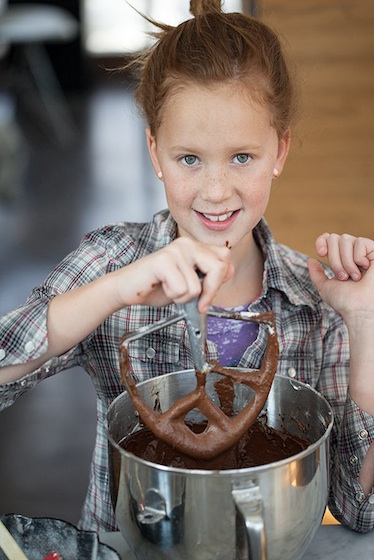 Devils Food Cake Kids in the Kitchen