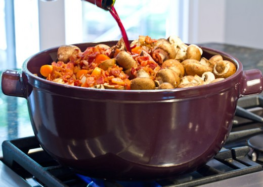 Boeuf Bourguignon with Roasted Potatoes Recipe
