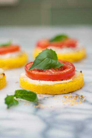 Mini Gluten-Free Polenta Pizzas and Summer Sangria Recipe