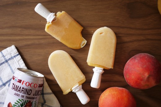 Honey Roasted Peach and Tamarind Pops Recipe