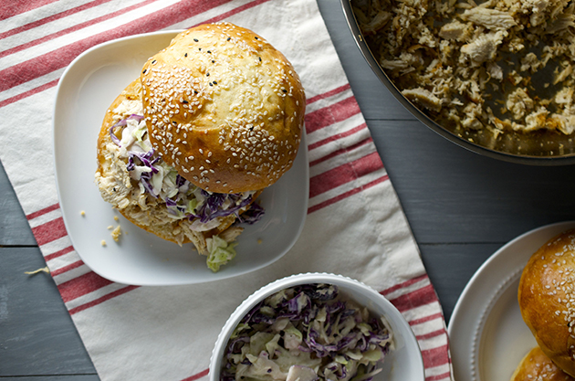 Overhead-Shredded-Chicken-Sandwiches