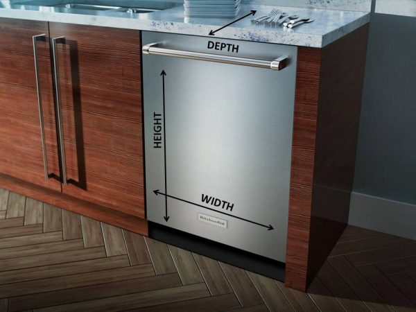 How to Measure a Dishwasher Size Height Depth Width