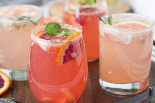 Sparkling Grapefruit Cocktails Hero alt 1