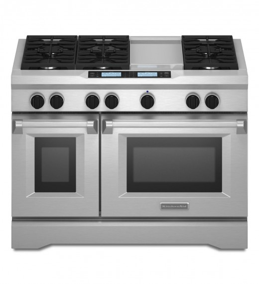 Kitchenaid 174 48 Inch 6 Burner With Steam Assist Oven Dual