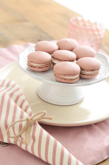 Pink Velvet Mint Macarons Recipe
