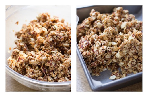 ... Pan with parchment paper and transfer the granola mixture inside