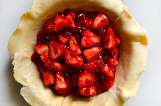 Strawberry Pie filling in KitchenAid Pan