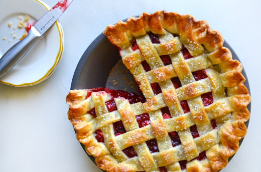 Sliced Strawberry Pie