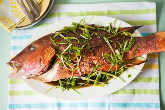 Asian-Style Roasted Whole Fish Recipe